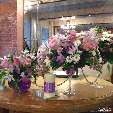 Свадебный салон ручной работы. Ярмарка Мастеров - ручная работа Декор свадьбы живыми цветами в сиреневых тонах. Handmade.