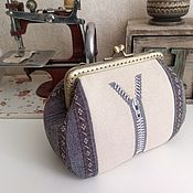 Сумки и аксессуары handmade. Livemaster - original item Cosmetic bag with clasp handmade cross-stitch Zipper. Handmade.