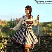 Одежда ручной работы. Ярмарка Мастеров - ручная работа Бохо-сарафан с двойной юбочкой. Handmade.