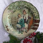 Посуда ручной работы. Ярмарка Мастеров - ручная работа Тарелочка Скоро рождество. Handmade.
