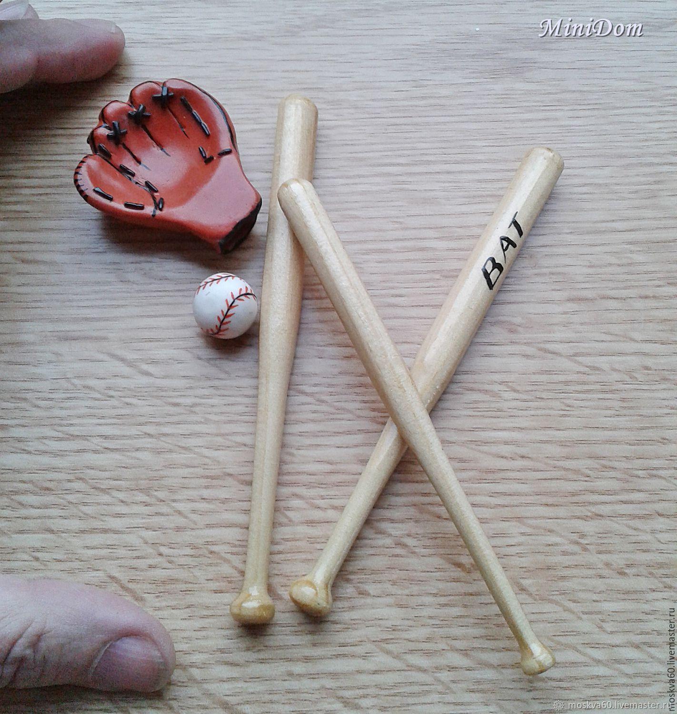Baseball bat, glove and ball for Dollhouse miniatures – заказать на Ярмарке  Мастеров – CGGUPCOM | Миниатюрные игрушки, Moscow