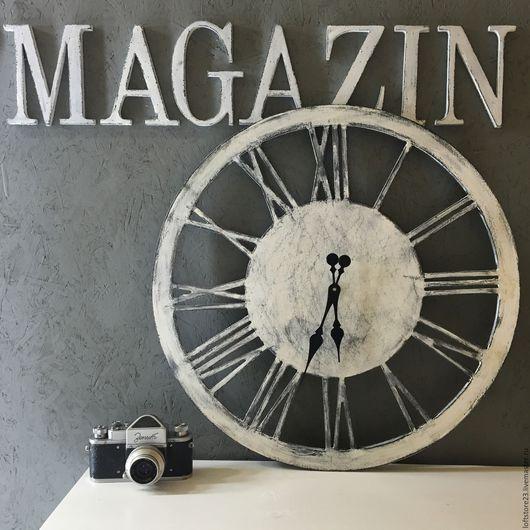 Часы для дома ручной работы. Ярмарка Мастеров - ручная работа. Купить Часы LOFT WATCH диаметром 50 см.. Handmade.