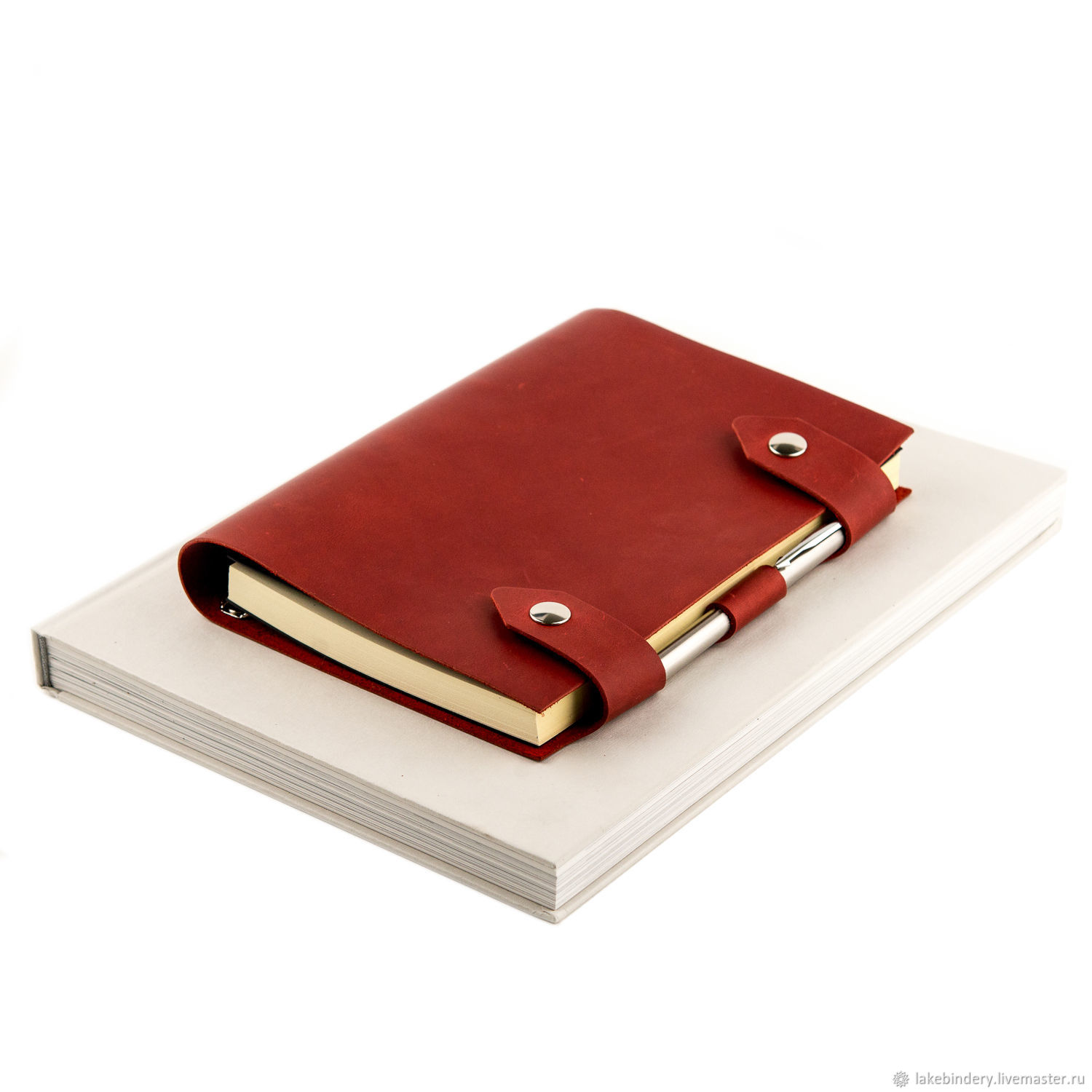 Leather notebook on rings with magnetic buttons, Notebooks, Moscow,  Фото №1