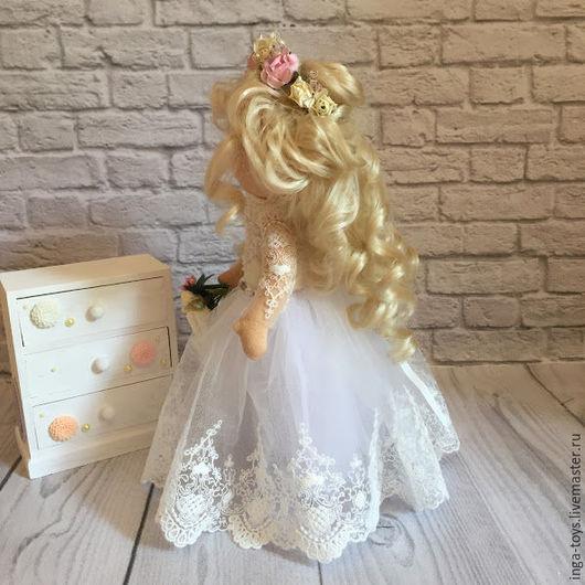 Коллекционные куклы ручной работы. Ярмарка Мастеров - ручная работа. Купить Невеста. Handmade. Белый, кукла интерьерная, свадебный подарок