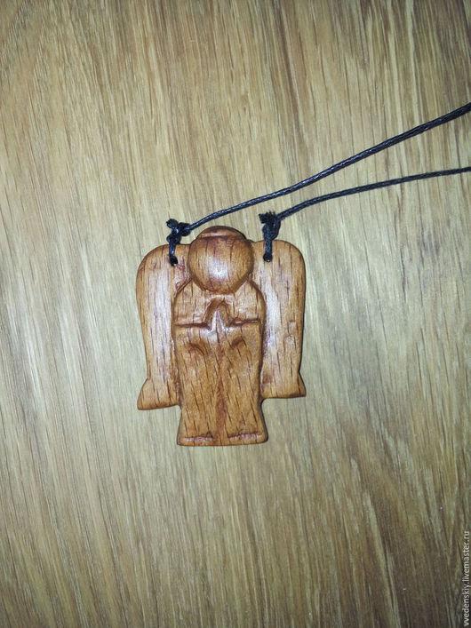 Сувениры ручной работы. Ярмарка Мастеров - ручная работа. Купить Ангел из дерева. Handmade. Коричневый, льняное масло, дерево, оберег
