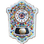 Для дома и интерьера handmade. Livemaster - original item Clocks, decorative,earthenware, with pendulum,wall. Handmade.