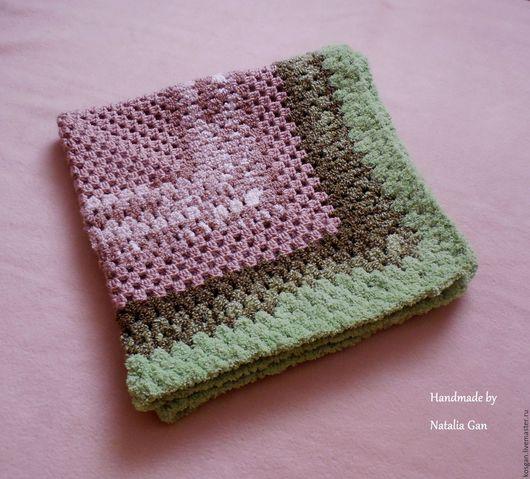Пледы и одеяла ручной работы. Ярмарка Мастеров - ручная работа. Купить Плед квадрат связаный крючком для девочки/мальчика 70х70. Handmade.