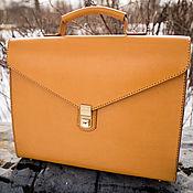 Сумки и аксессуары handmade. Livemaster - original item The yellow portfolio,business.. Handmade.