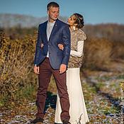 Свадебный салон ручной работы. Ярмарка Мастеров - ручная работа Лаконичное свадебное платье для Дарьи. Handmade.