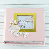 Подарки к праздникам handmade. Livemaster - original item The album is the first year of life for girls. Handmade.