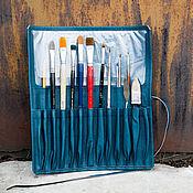 Канцелярские товары ручной работы. Ярмарка Мастеров - ручная работа Пенал для кистей или вязальных спиц. Handmade.