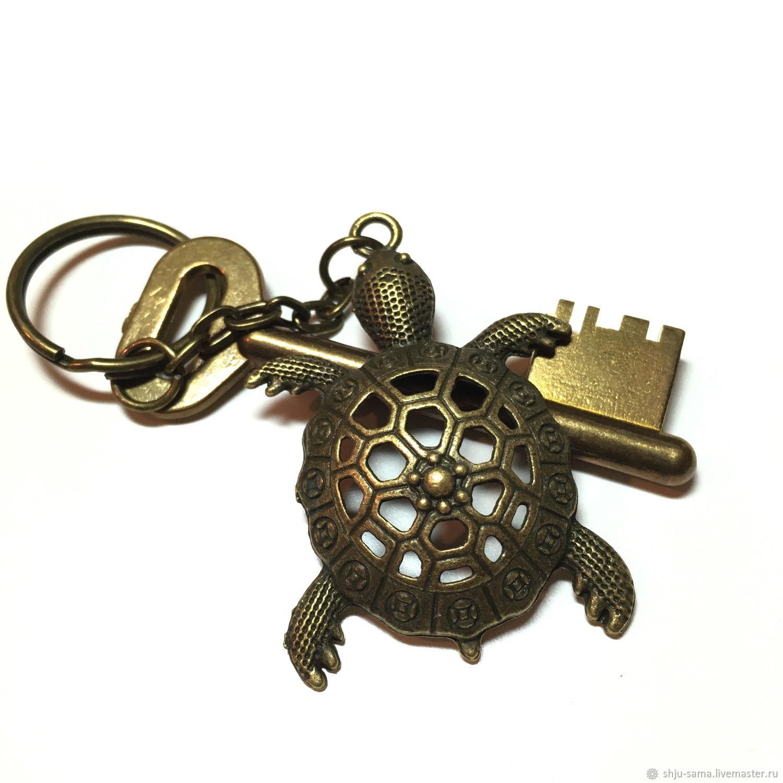 Брелок для ключей Черепаха, брелок для сумки