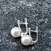 Украшения handmade. Livemaster - original item Silver earrings with natural pearls. Handmade.