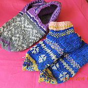 Аксессуары ручной работы. Ярмарка Мастеров - ручная работа носки ,следы вязанные. Handmade.