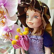 Куклы и игрушки ручной работы. Ярмарка Мастеров - ручная работа Интерьерная кукла в синем. Handmade.