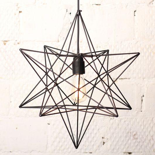 """Освещение ручной работы. Ярмарка Мастеров - ручная работа. Купить Лампа с ретро-лампочкой """"Звезда"""". Handmade. Лампа, дизайн, освещение"""