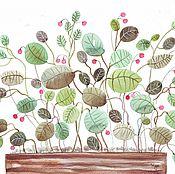 Картины и панно ручной работы. Ярмарка Мастеров - ручная работа На окне растут цветочки. Акварель.. Handmade.