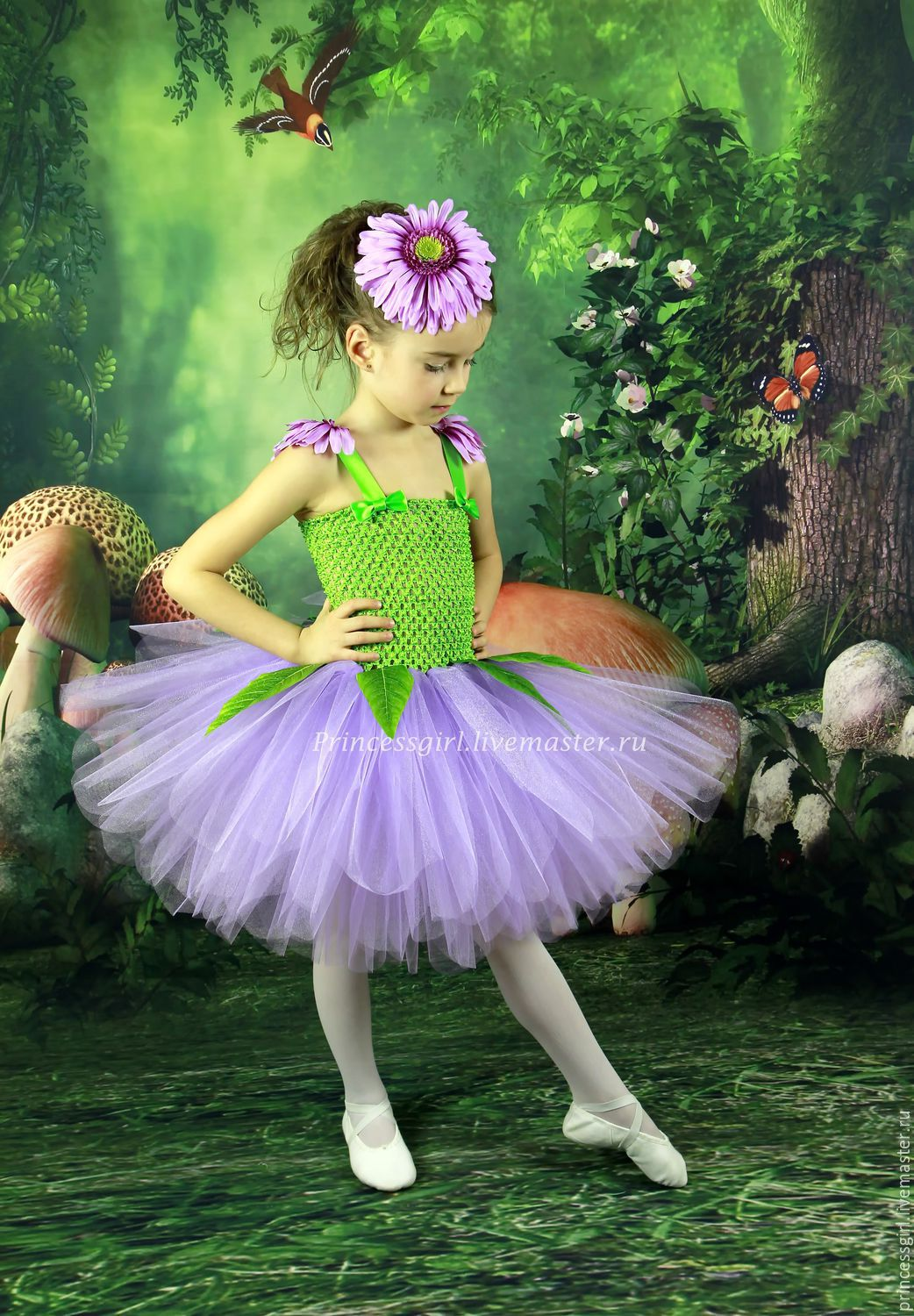 Flower Costume For Girls Rose Shop Online On Livemaster With