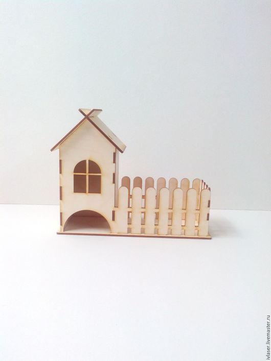 IVL-112-3 Чайный домик с конфетницей заготовка для декупажа и росписи