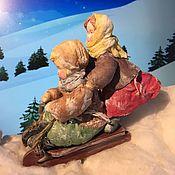 Мягкие игрушки ручной работы. Ярмарка Мастеров - ручная работа Зимние забавы. Handmade.