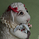 Игрушки животные, ручной работы. Ярмарка Мастеров - ручная работа. Купить Овечка. Handmade. Белый, овечка в подарок, подарок