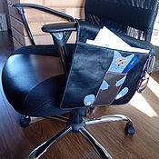 Органайзер ручной работы. Ярмарка Мастеров - ручная работа Карман-органайзер на компьютерное кресло кожаный.. Handmade.