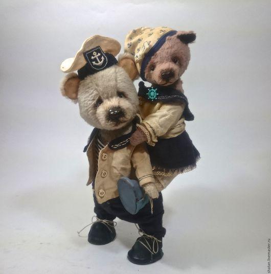 Мишки Тедди ручной работы. Ярмарка Мастеров - ручная работа. Купить мишка тедди Морячка и Моряк. Handmade. комбинированный, лис