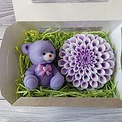 Косметика ручной работы handmade. Livemaster - original item Soap set bear with Dahlia. Handmade.