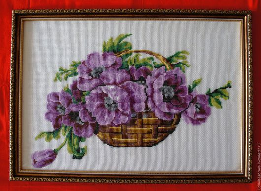 Картины цветов ручной работы. Ярмарка Мастеров - ручная работа. Купить Цветы в корзине. Handmade. Комбинированный, цветы, для интерьера спальни
