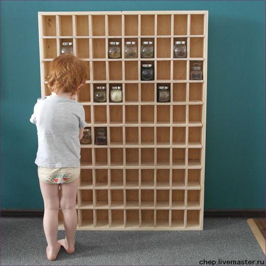 Мебель ручной работы. Ярмарка Мастеров - ручная работа. Купить Полка для коллекции. Handmade. Белый, камни, стеллаж
