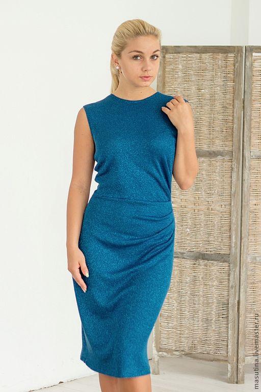 """Платья ручной работы. Ярмарка Мастеров - ручная работа. Купить Платье """"Принцесса голубых облаков"""". Handmade. Тёмно-бирюзовый"""