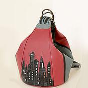 """Сумки и аксессуары ручной работы. Ярмарка Мастеров - ручная работа Женская сумка-рюкзак """"My City"""". Handmade."""