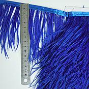 handmade. Livemaster - original item Trim of ostrich feathers 10-15 cm cobalt. Handmade.