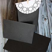 Материалы для творчества ручной работы. Ярмарка Мастеров - ручная работа Конверты чёрного цвета. Handmade.