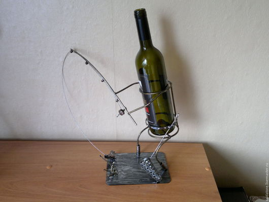 Подарки для мужчин, ручной работы. Ярмарка Мастеров - ручная работа. Купить сувенир из металла.РЫБАК. Handmade. Комбинированный, рыбалка