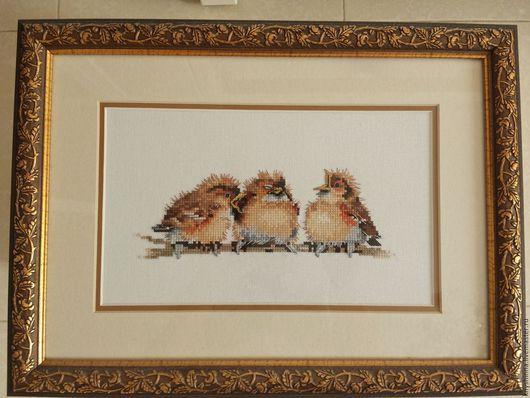 Животные ручной работы. Ярмарка Мастеров - ручная работа. Купить Вышивка: птицы. Handmade. Вышивка, Вышивка крестом, интересный подарок