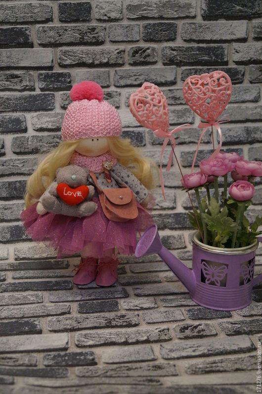 Коллекционные куклы ручной работы. Ярмарка Мастеров - ручная работа. Купить куколка- малышка. Handmade. Бледно-розовый