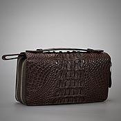 Сумки и аксессуары handmade. Livemaster - original item Men`s clutch bag made of crocodile skin. Handmade.