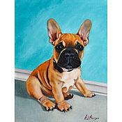 Картины и панно handmade. Livemaster - original item Oil painting dog