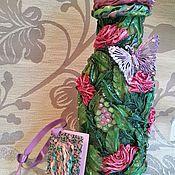Сувениры и подарки ручной работы. Ярмарка Мастеров - ручная работа Бутылка-ваза. Handmade.