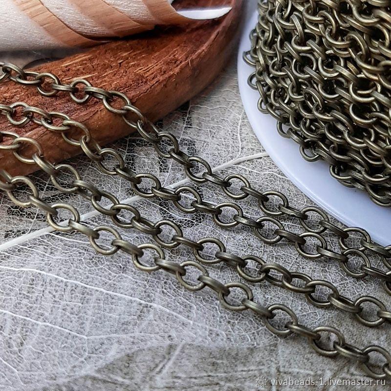 1 m Chain 3,5h4 mm under bronze (3697), Chains, Voronezh,  Фото №1
