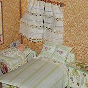 Куклы и игрушки ручной работы. Ярмарка Мастеров - ручная работа Кукольная мебель с бельем, масштаб 1:12.. Handmade.
