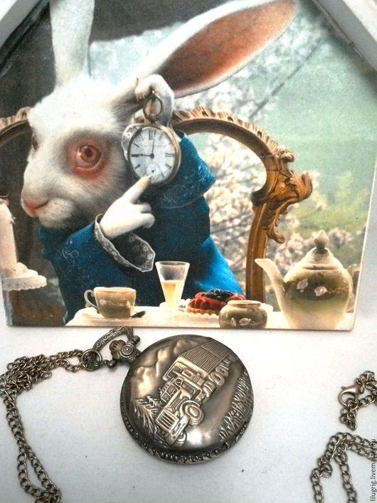 """Часы ручной работы. Ярмарка Мастеров - ручная работа. Купить Часы карманные """"Дальнобойщик"""". Handmade. Часы, часы на цепочке"""