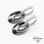 Украшения handmade. Livemaster - original item Swarovski Earrings 2 in 1 with Swarovski Crystals 925 Sterling Silver. Handmade.