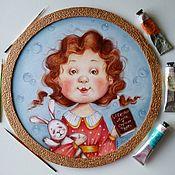 Картины и панно handmade. Livemaster - original item Oil painting with a girl a fairy Tale for Alice. Handmade.