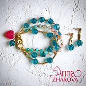 Украшения handmade. Livemaster - original item The Blue Ice Bracelet. Handmade.