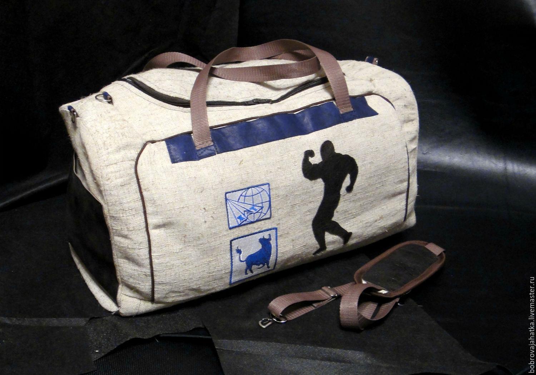 ded4c9dae00f Спортивные сумки ручной работы. Ярмарка Мастеров - ручная работа. Купить  Мужская сумка спортивная на ...