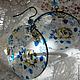 Серьги ручной работы. Ситцевая Роза серьги прозрачные. 'Dushevnye shtuki Ksyushechki' Karolina. Интернет-магазин Ярмарка Мастеров. Ситец