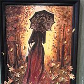 """Картины и панно ручной работы. Ярмарка Мастеров - ручная работа Панно """"Осенний мотив"""". Handmade."""
