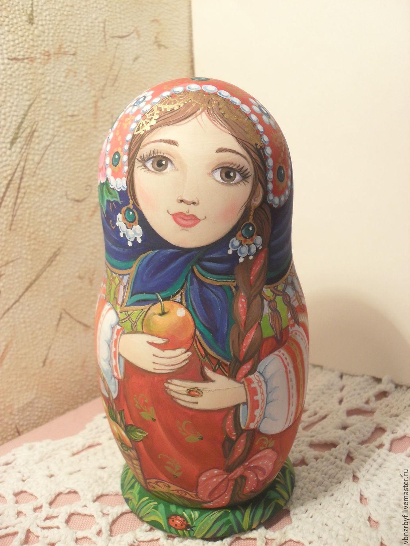Matryoshka in a blue coat, Dolls1, Vitebsk,  Фото №1